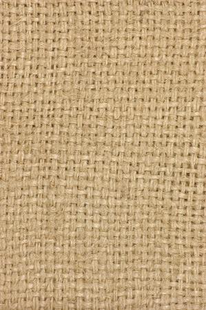 Light natural textured burlap sackcloth hessian texture coffee sack, light country sacking canvas, macro background photo