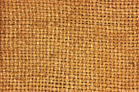 Natural textured burlap sackcloth hessian texture coffee sack, dark country sacking canvas, macro background photo