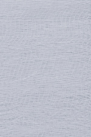gauze: White medical bandage gauze texture, abstract textured background macro closeup, natural cotton linen fabric copy space in light blue