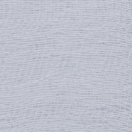 White medical bandage gauze texture, abstract textured background macro closeup, natural cotton linen fabric copy space in light blue photo