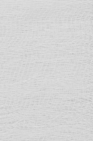 White medical bandage gauze texture, abstract textured background macro closeup, natural cotton linen fabric, copy space Stock Photo - 12914315