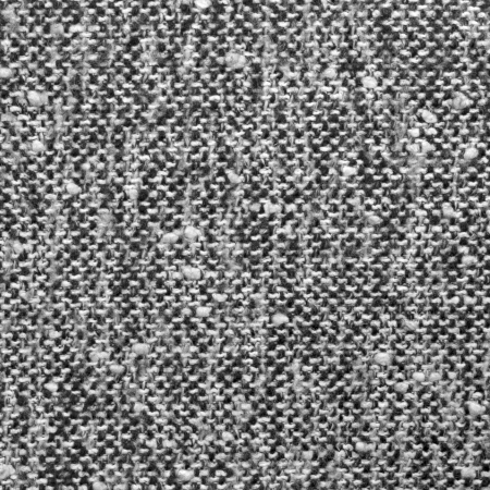 Grey tweed texture, gray wool pattern, textured salt and pepper style black and white melange fabric background Stock Photo