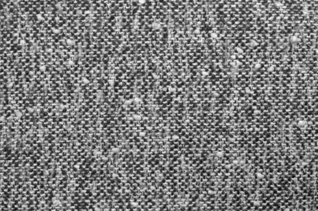 Grey tweed texture, gray wool pattern, textured salt and pepper style black and white melange fabric background photo