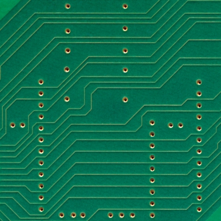 Printed circuit board, electronic components plate macro closeup, background texture copy space Stock Photo - 14207040