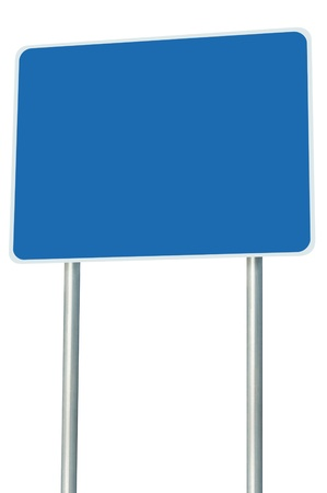 adboard: Blank Blue Road Sign Isolated Stock Photo