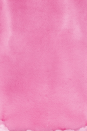 Pink natural handmade aquarelle painting texture, vertical textured watercolor paper macro close up copy space background photo