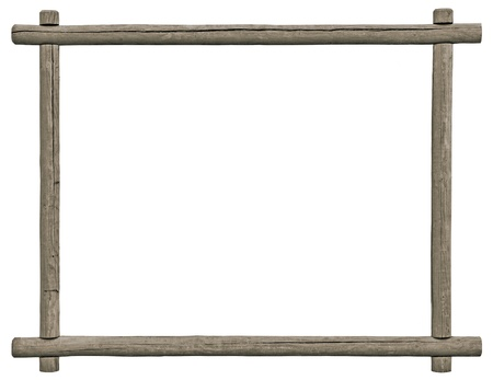 Blank Signboard Frame, Isolated Copy Space, Grey Wooden Texture, Grunge Aged Rustic Weathered Empty Textured Gray Wood Framing Stock Photo - 20363934