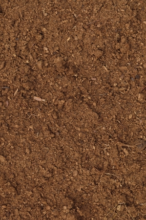 Peat Turf Macro Closeup, large detailed brown organic humus soil background pattern, vertical Imagens