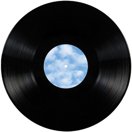 Black vinyl record lp album disc photo