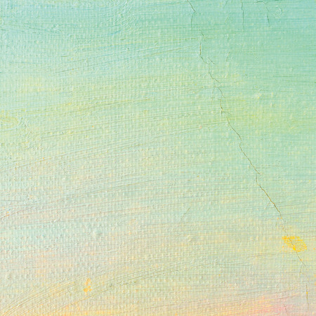 ultramarine: Oil paint , bright ultramarine blue, yellow, pink, turquoise, large brush strokes painting detailed textured pastel colors macro closeup, horizontal texture pattern, old aged scratched canvas