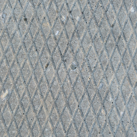 grooved: Old grey weathered concrete plate, rough grunge abstract cement tile texture diagonal groove pattern macro closeup, diagonally grooved large detailed vertical textured gray footbridge walkway background, natural rustic grungy stained vintage sidewalk path