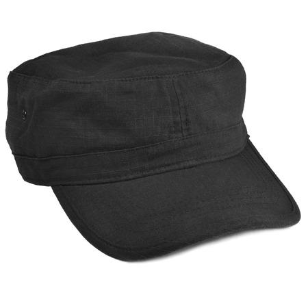 black  cap: Field patrol cap macro closeup