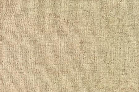 Natural textured horizontal grunge burlap sackcloth hessian sack texture, grungy vintage country sacking canvas, large detailed bright beige pattern macro background closeup photo