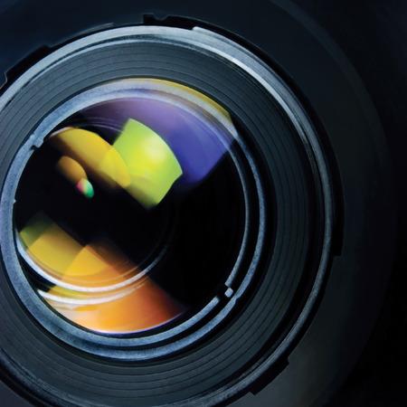 macro photo: Lens and hood large detailed macro zoom closeup Stock Photo