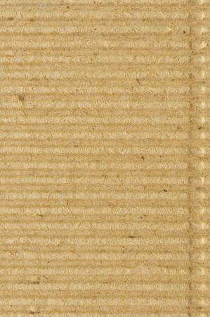 crimped: Corrugated cardboard goffer paper texture, bright rough old recycled goffered crimped textured blank empty grunge copy space background, large aged detailed grungy macro closeup, vertical taupe, grey, gray, brown, tan, yellow, beige detail, horizontal rid Stock Photo