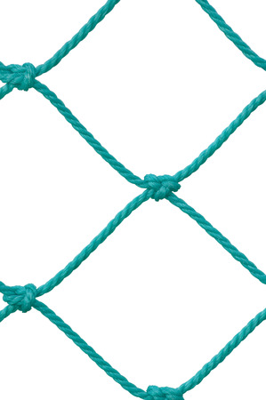 football goal post: Soccer Football Goal Post Set Net Rope Detail, New Green Goalnet Netting Ropes Knots Pattern, Vertical Macro Closeup, Isolated Large Detailed Blank Empty Copy Space Background