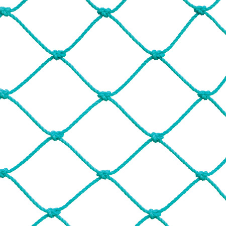 football goal post: Soccer Football Goal Post Set Net Rope Detail New Green Goalnet Netting Ropes Knots Pattern Macro Closeup Isolated Large Detailed Blank Empty Copy Space Background