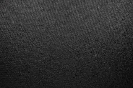 Natural Bright Black Fiber Linnen textuur, grote gedetailleerde Macro close-up, rustieke vintage geweven stof jute doek achtergrond, diagonaal patroon, horizontale kopie ruimte