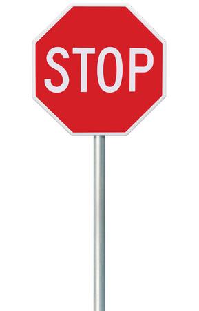 Rosso Stop Sign Archivio Fotografico - 44447145
