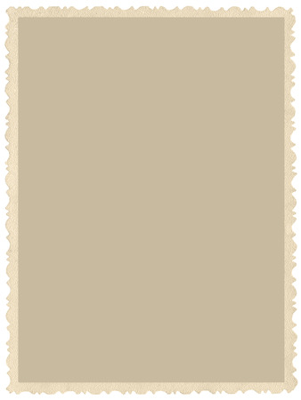 Old aged grunge edge sepia photo, blank empty vertical background, isolated yellow beige vintage photograph picture card border frame, retro postcard copy space, large detailed closeup
