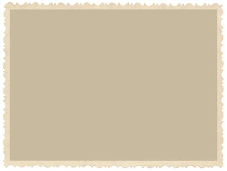 Ancien bord grunge vieilli photo sépia, blanc fond vide horizontal, cadre frontière isolé jaune beige photographie vintage de carte d'image, rétro espace de copie de carte postale, grand gros plan détaillé Banque d'images - 53517152