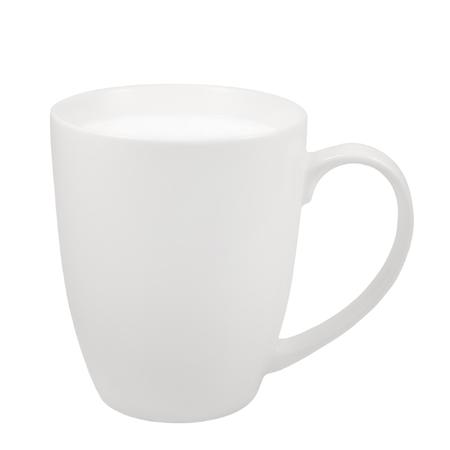 白い牛乳マグカップ、中国磁器のカップ、大きい詳細分離マクロ クローズ アップ、垂直スタジオ ショット、健康食品ライフ スタイル ホットド リ 写真素材