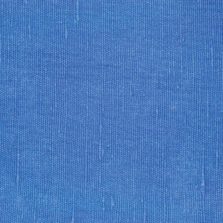 linens: Natural Bright Blue Flax Fiber Linen Texture, Detailed Macro Closeup, Rustic Crumpled Vintage Textured Fabric Burlap Canvas Pattern, Horizontal Rough Background Copy Space Stock Photo