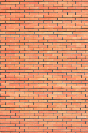 bricks background: Red beige brick wall texture, vertical pattern background, large detailed textured brick-wall copy space closeup natural grungy bricks wallpaper Stock Photo