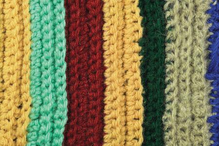 Calcet/ín de lana fina Punto Blanco rayas