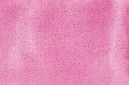 Pink natural handmade aquarelle watercolours paint texture pattern background, horizontal textured watercolor paper painting macro closeup, painted copy space Stock Photo