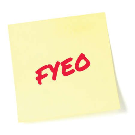 For your eyes only initialism FYEO red marker written acronym text