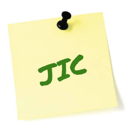 Just in case initialism JIC green marker written acronym text