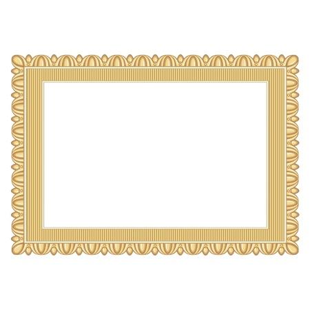 gold frame Ilustração