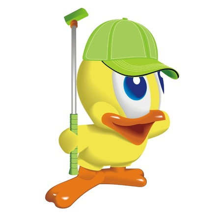 swimming bird: duck_player_in_golf