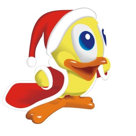 duck_santa_klaus Vector