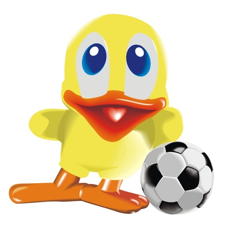 Duck_with_ball Vector