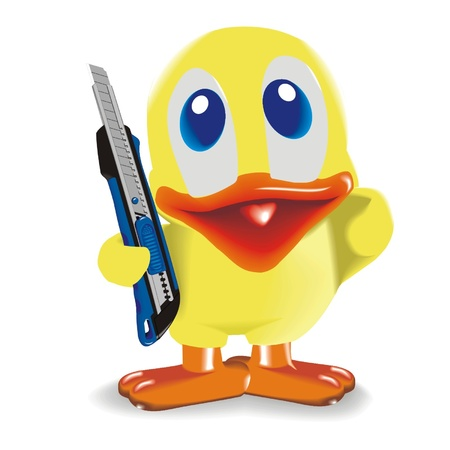 duck_with_knife Vector
