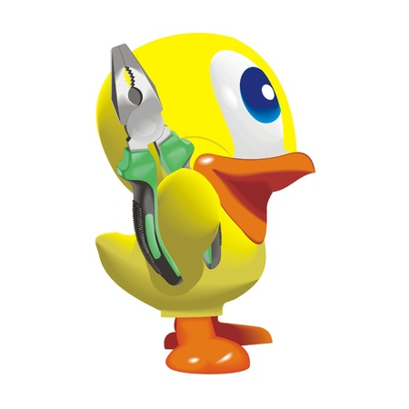 duck_with_nippers Vector