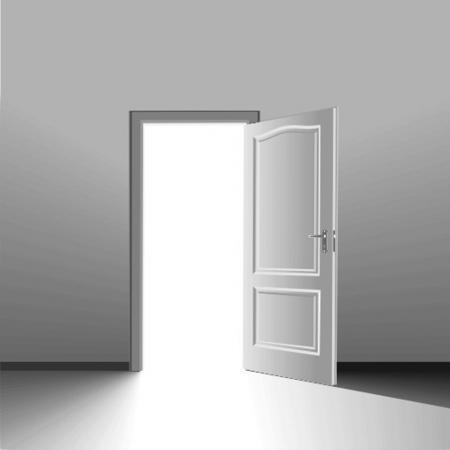 puerta abierta: puerta
