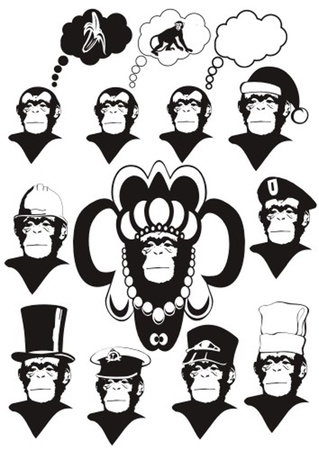 monkey Stock Vector - 13324823