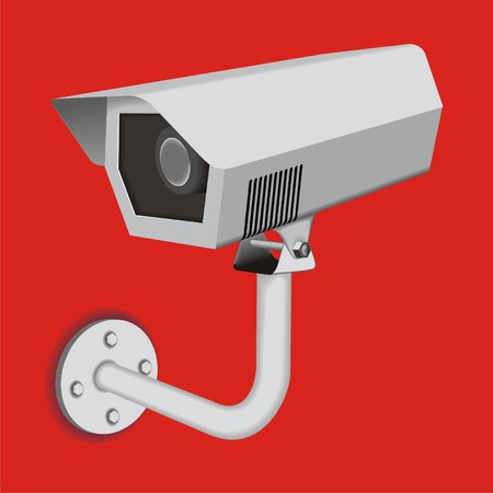 surveillance camera Stock Vector - 13324795