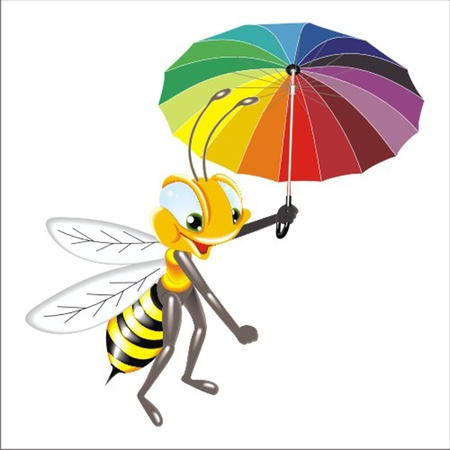 abeja reina: abeja Vectores