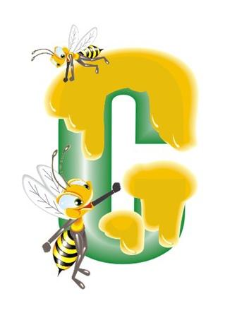 alphabet wallpaper: letter C Illustration