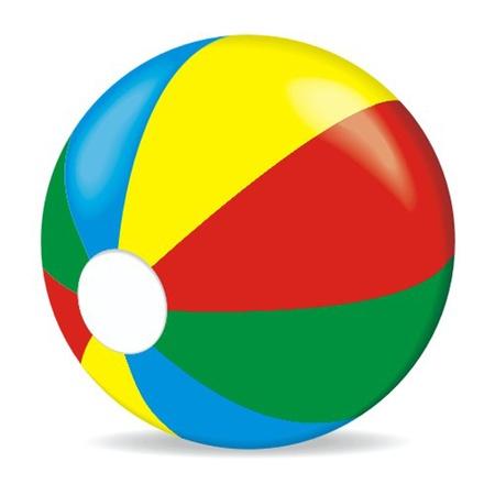 pelota caricatura: bola de color