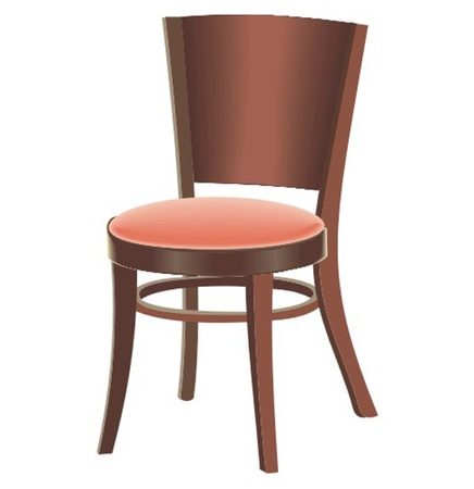 a wooden chair Vector