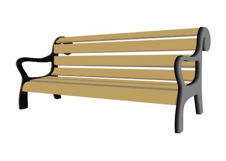 park bench: bench Illustration