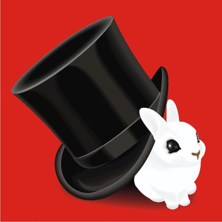hat with rabbit Vector