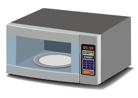 microondas: microonda Vectores