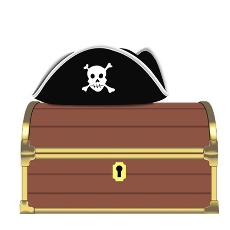 coin box: pirate chest Illustration