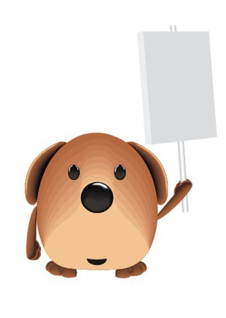 dog with poster Vector